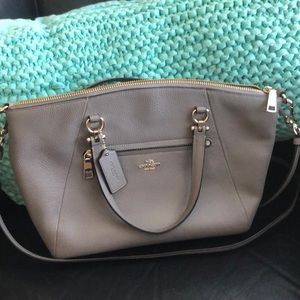 Brand new grey coach shoulder bag and crossbody